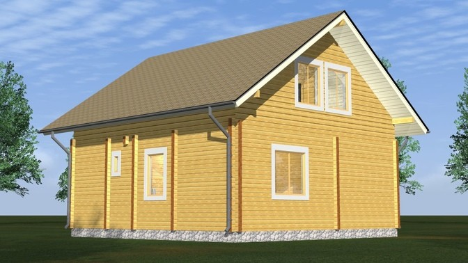 Проект дома из бруса Д-310 фото