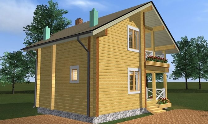 Проект дома из бруса Д-334 фото