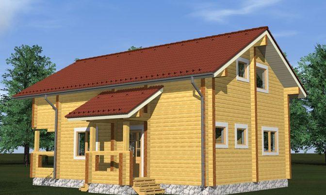 Проект дома из бруса Д-318 фото