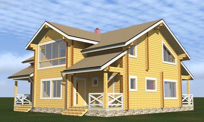 Проект дома из бруса Д-308 фото