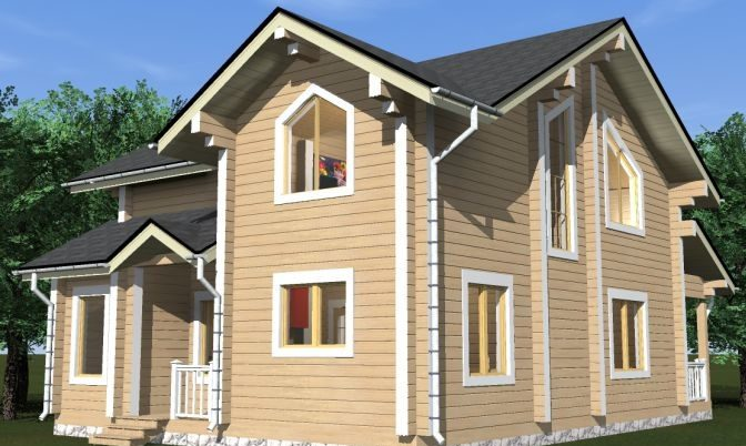 Проект дома из бруса Д-361 фото