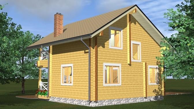 Проект дома из бруса Д-376 фото