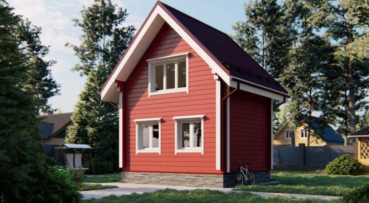 Проект дома из бруса Д-280 фото
