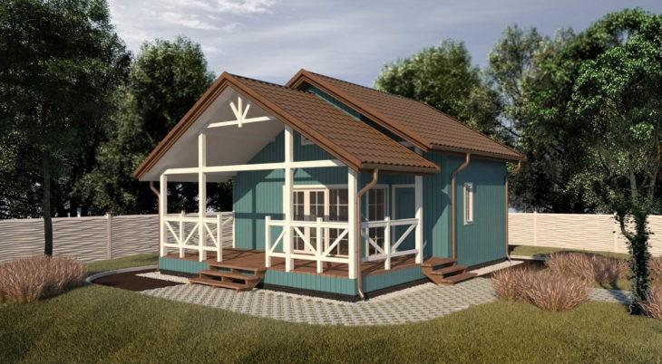 Проект каркасного дома К-002 фото