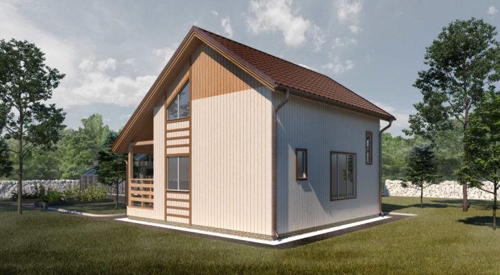 Проект каркасного дома К-004 фото