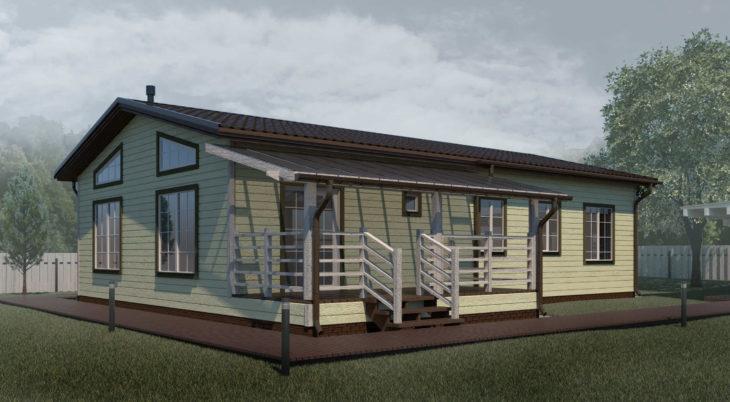 Проект каркасного дома К-003 фото