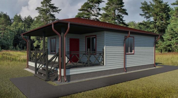 Проект каркасного дома К-008 фото